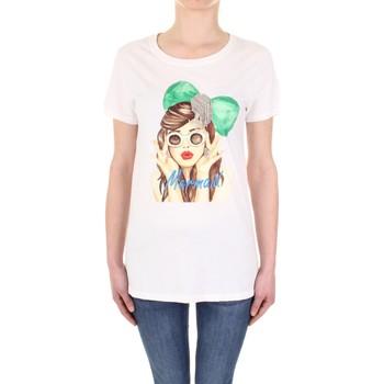 vaatteet Naiset Lyhythihainen t-paita Vicolo RU0081 Panna