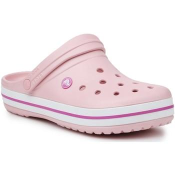 kengät Naiset Puukengät Crocs Crocband 11016-6MB pink