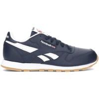 kengät Lapset Matalavartiset tennarit Reebok Sport Classic Leather Valkoiset, Tummansininen