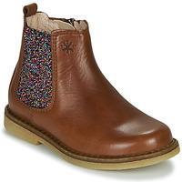 kengät Tytöt Bootsit Acebo's 5274-CUERO-J Cognac