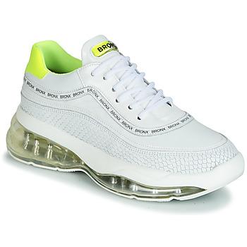 kengät Naiset Matalavartiset tennarit Bronx BUBBLY White / Yellow