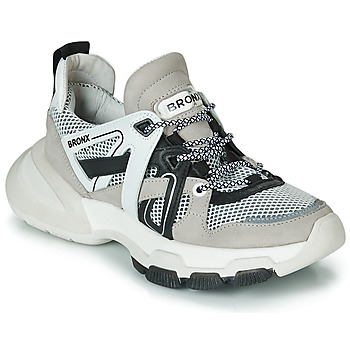 kengät Naiset Matalavartiset tennarit Bronx SEVENTY STREET Grey / White / Black