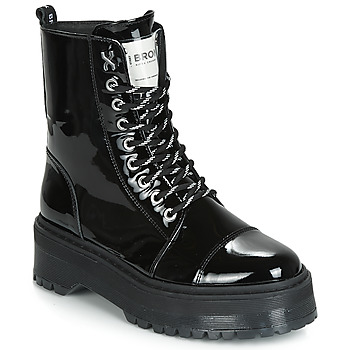 kengät Naiset Bootsit Bronx RIFKA SUPER CHUNKY Black