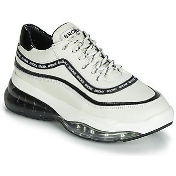 kengät Naiset Matalavartiset tennarit Bronx BUBBLY White / Black