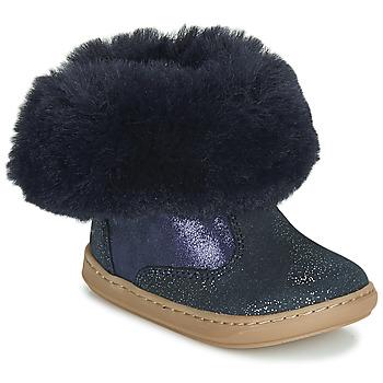 kengät Tytöt Bootsit Shoo Pom BOUBA FUR BOOTS Laivastonsininen