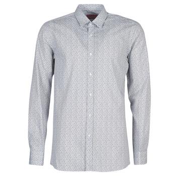 vaatteet Miehet Pitkähihainen paitapusero HUGO ELISHA02 Grey
