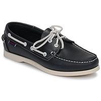 kengät Naiset Purjehduskengät Sebago DOCKSIDES PORTLAND W Blue