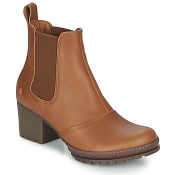 kengät Naiset Nilkkurit Art CAMDEN Cognac