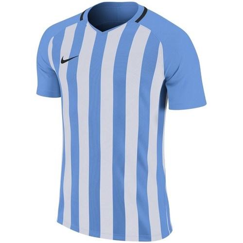 vaatteet Miehet Lyhythihainen t-paita Nike Striped Division Jersey Iii Valkoiset, Vaaleansiniset