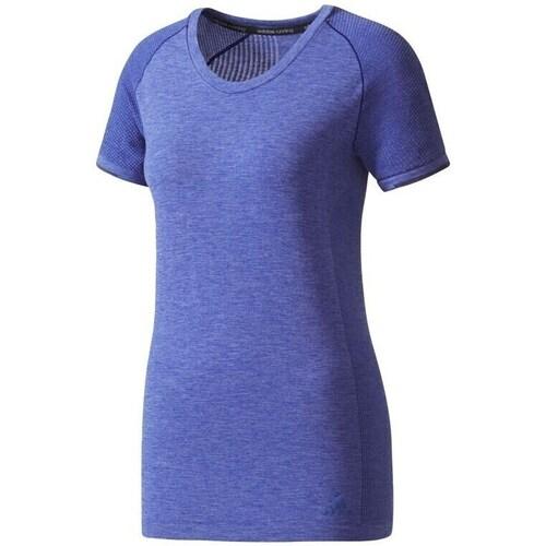 vaatteet Naiset Lyhythihainen t-paita adidas Originals Primeknit Wool Violetit