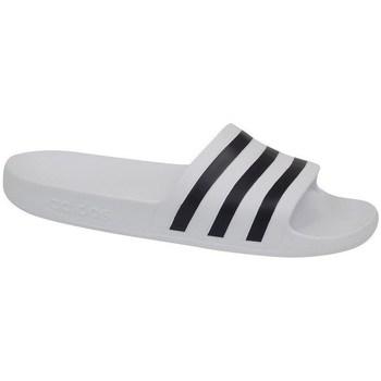kengät Miehet Rantasandaalit adidas Originals Adilette Aqua Valkoiset