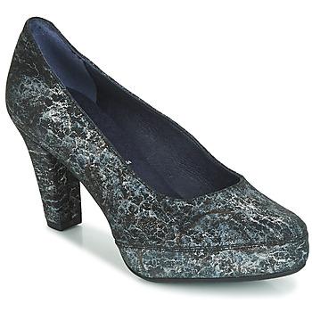 kengät Naiset Korkokengät Dorking BLSA Musta / Harmaa