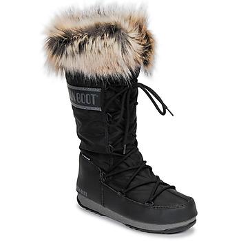 kengät Naiset Talvisaappaat Moon Boot MOON BOOT MONACO WP 2 Black