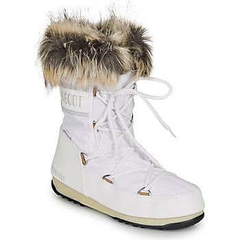 kengät Naiset Talvisaappaat Moon Boot MOON BOOT MONACO LOW WP 2 White