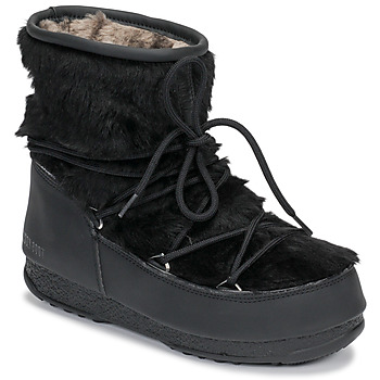 kengät Naiset Talvisaappaat Moon Boot MOON BOOT MONACO LOW FUR WP Black
