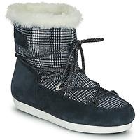 kengät Naiset Talvisaappaat Moon Boot MOON BOOT FAR SIDE LOW FUR TARTAN Laivastonsininen