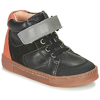 kengät Pojat Korkeavartiset tennarit Babybotte KEN Musta / Oranssi