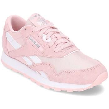 kengät Tytöt Matalavartiset tennarit Reebok Sport Classic Nylon Vaaleanpunaiset