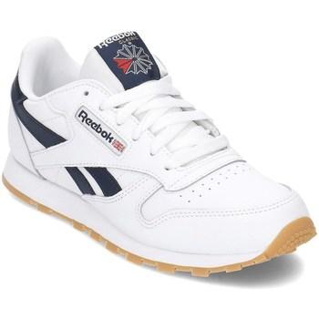 kengät Pojat Matalavartiset tennarit Reebok Sport Classic Leather Valkoiset, Tummansininen