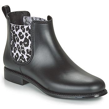 kengät Naiset Kumisaappaat Be Only DAKAR Black / Leopardi