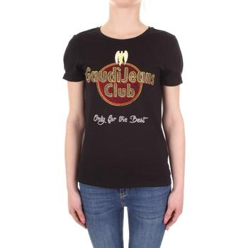 vaatteet Naiset Lyhythihainen t-paita Gaudi 911BD64039 Nero