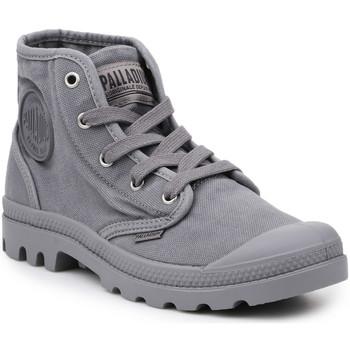 kengät Miehet Korkeavartiset tennarit Palladium Lifestyle shoes  US Pampa Hi Titanium 92352-011-M grey
