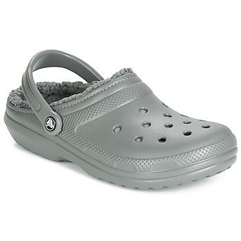 kengät Puukengät Crocs CLASSIC LINED CLOG Grey