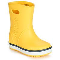kengät Lapset Kumisaappaat Crocs CROCBAND RAIN BOOT K Yellow / Laivastonsininen