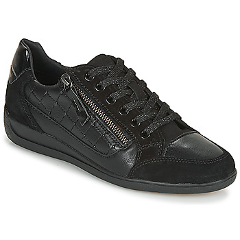 kengät Naiset Matalavartiset tennarit Geox D MYRIA A Black