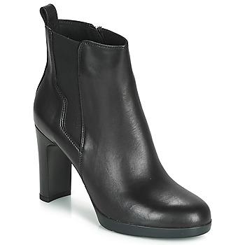 kengät Naiset Nilkkurit Geox D ANNYA HIGH Black