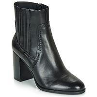 kengät Naiset Nilkkurit Geox D JACY HIGH Black