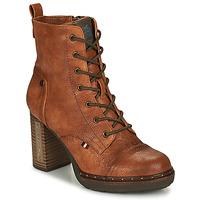 kengät Naiset Nilkkurit Mustang 1336502-309 Cognac
