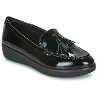 kengät Naiset Mokkasiinit FitFlop PETRINA MOCASSIN Black