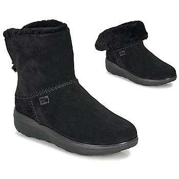 kengät Naiset Bootsit FitFlop MUKLUK SHORTY III Black