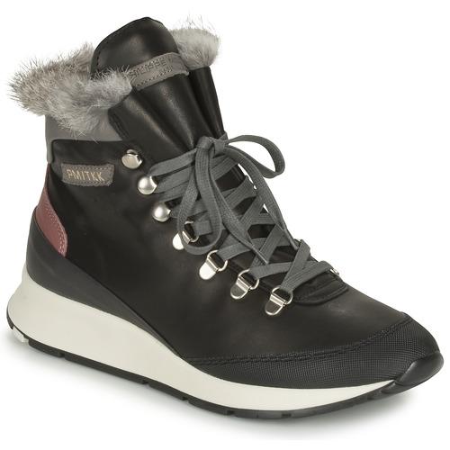 kengät Naiset Korkeavartiset tennarit Philippe Model MONTECARLO Black