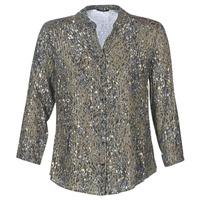 vaatteet Naiset Topit / Puserot One Step CARLY CHEMISE Khaki / Monivärinen