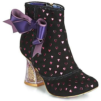 kengät Naiset Nilkkurit Irregular Choice OUTTA TIME Musta
