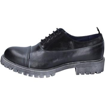kengät Miehet Derby-kengät & Herrainkengät Ossiani classiche pelle camoscio Nero