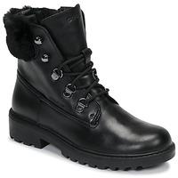 kengät Tytöt Bootsit Geox J CASEY GIRL WPF Black