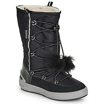 kengät Tytöt Talvisaappaat Geox J SLEIGH GIRL B ABX Black