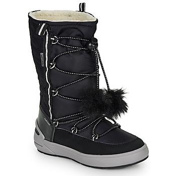 kengät Tytöt Saappaat Geox J SLEIGH GIRL B ABX Musta