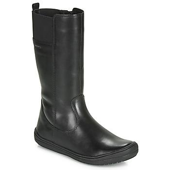 kengät Tytöt Saappaat Geox J HADRIEL GIRL Musta