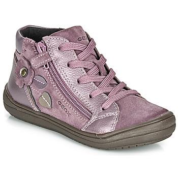 kengät Tytöt Bootsit Geox J HADRIEL GIRL Luumu
