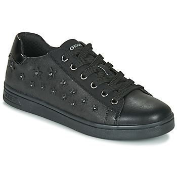 kengät Tytöt Matalavartiset tennarit Geox J DJROCK GIRL Black