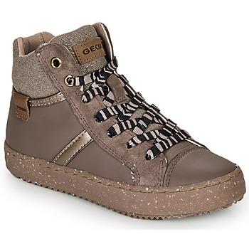 kengät Tytöt Korkeavartiset tennarit Geox J KALISPERA GIRL Grey