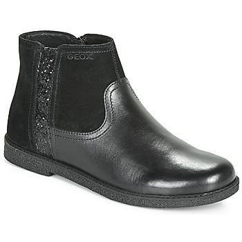 kengät Tytöt Bootsit Geox J SHAWNTEL Black