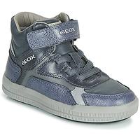 kengät Pojat Korkeavartiset tennarit Geox J ARZACH BOY Blue / Grey