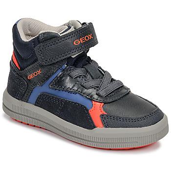 kengät Pojat Korkeavartiset tennarit Geox J ARZACH BOY Blue / Orange