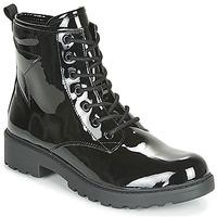 kengät Tytöt Bootsit Geox J CASEY GIRL Black