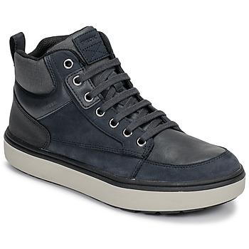 kengät Pojat Korkeavartiset tennarit Geox J MATTIAS B BOY ABX Blue / Black